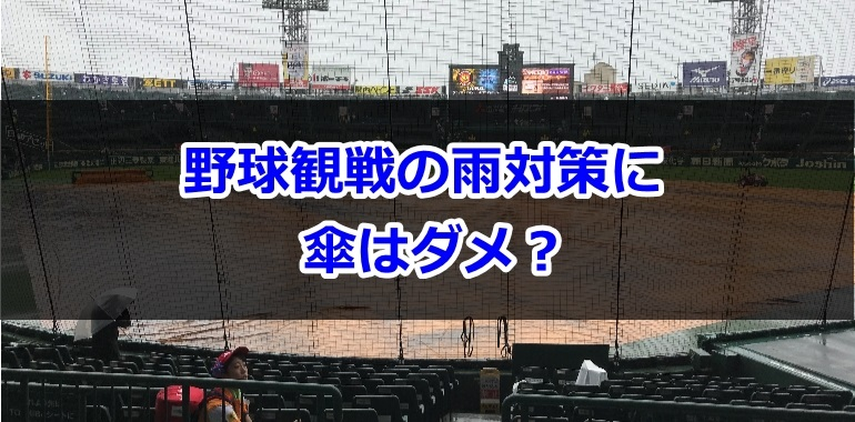 野球観戦の雨対策に傘はダメ?100均でも買える必需品はコレ!