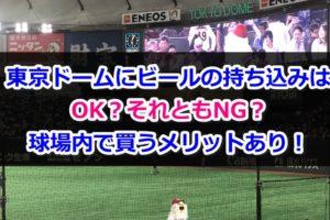 野球観戦 東京ドーム ビール